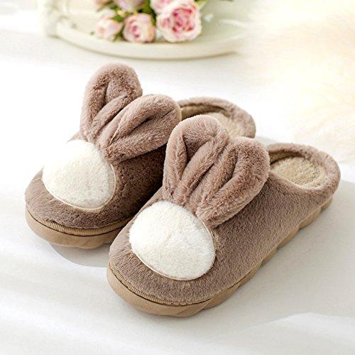 DogHaccd maschio donne gancio coppie pantofole Caffè soggiornano d'inverno pantofole inverno bella le luce3 indoor che Il spesse cotone lana pantofole nel di rqrPCwBgx