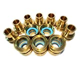 Garden Hose Quick Connect Set, Solid Brass, Extra 25 Washers, 5 Female Connectors + 7 Male Connectors.