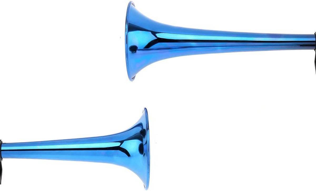 Dual Trumpets Air Horn 12V 178dB Loud Dual Tone Set Trumpet Air Horn with Compressor Kit for Car Truck Motorcycle Vehicles Blue WElinks Loud Air Horn
