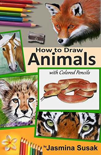 Tiger Snake (How to Draw Animals with Colored Pencils: Learn to draw Realistic Wild Animals and Pets, Tigers, Parrot, Snake, Horses Leopard Dogs, Cats and More! How to Draw Cute Animals for Kids and Adults)