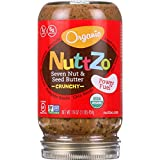 NuttZo Spread - Organic Seven Nut and Seed Butter - Crunchy - without Peanuts - 16 oz - case of 6 - 95%+ Organic - Vegan