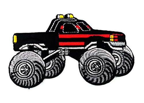 9.5 x 6.0 cm Monster Truck 4 X 4 Pickup Auto Racing Ute Applique Iron-on Patch