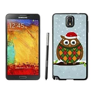 ayuw diy Diy Christmas Owls Black Samsung Galaxy Note 3 Case 2