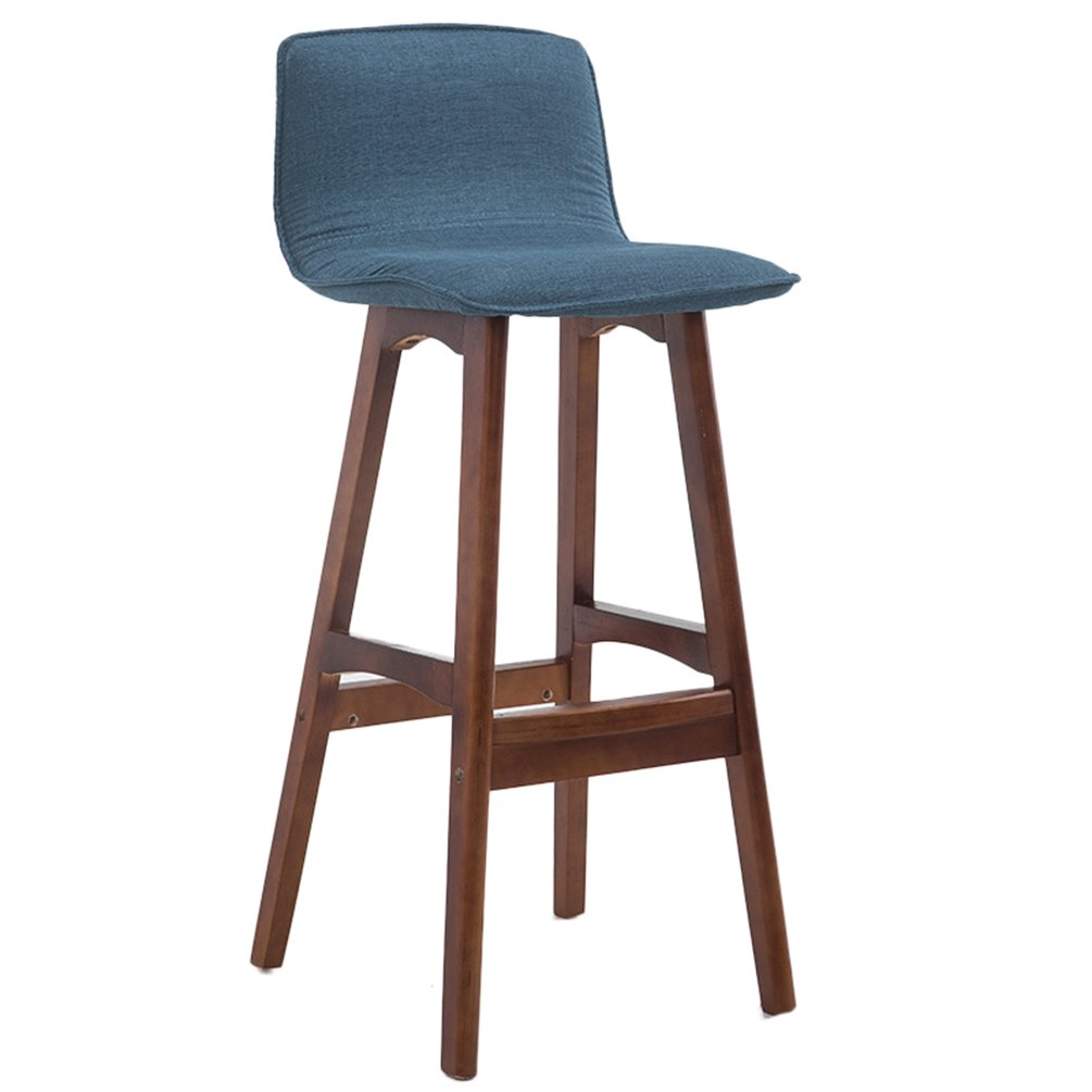 F Bar Stool Bar Stool Solid Wood high + Fabric Cushion Boss Chair (color   F)