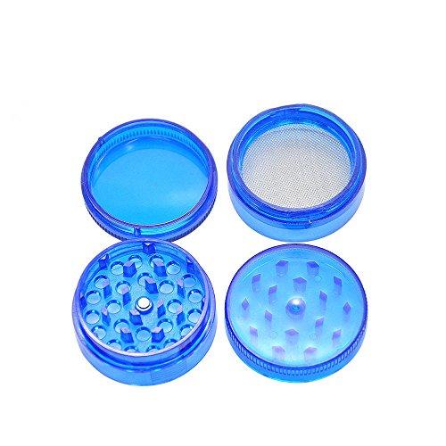 WensLTD 4-Layer Plastic Tobacco Herb Grinder Spice Crusher Grinder, Color Random (Blue) by WensLTD (Image #3)