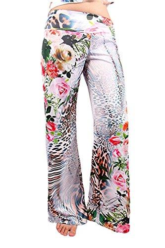 Nahen Floreale Primaverile Tempo Baggy Elastica Grazioso Taille Colour Giovane Larghi Stile Modern 4 Stampate Moda Moda Eleganti Libero Estivi Lunga Pantalone Donna Pantaloni Pants Pantaloni Vita Pantaloni vq5OZ