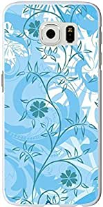 S6 Case Samsung Galaxy S6 Cover blue awesome flower patterns sale on ZENG Case