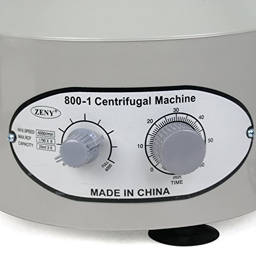 Smartxchoices 110V Lab Medical Practice Centrifuge 4000 Rpm 20 ml X 6 Low Speed Desktop Electric Centrifuge Unit (Model 800-1)