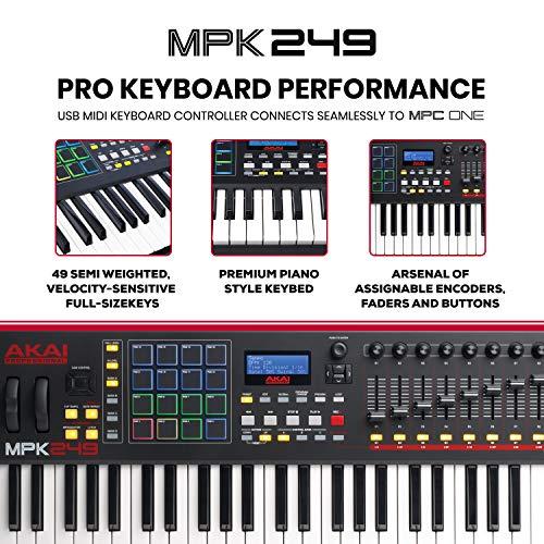 Akai Professional Beat Maker Bundle – MPC One Drum Machine/Sampler and MPK249 MIDI Keyboard Controller