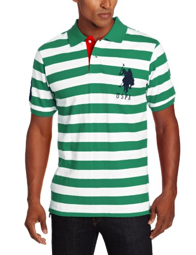U.S. Polo Assn. Men's Short Sleeve Striped With Big Pony