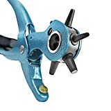 S&R Precision Hole PUNCH PLIERS /MADE IN GERMANY/ Revolving belt punching Tool M 225 with 6 changeable holes 2 - 2,5 - 3 - 3,5 - 4 - 4,5 mm
