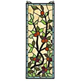 Stained Glass Panel - Morris Trellis Stained Glass Window Hangings - Window Treatments