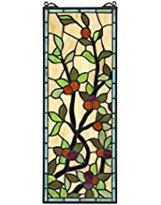 Design Toscano Sainte-Genevieve Tiffany-Style Stained Glass Window, 26.5 Inch, Full Color
