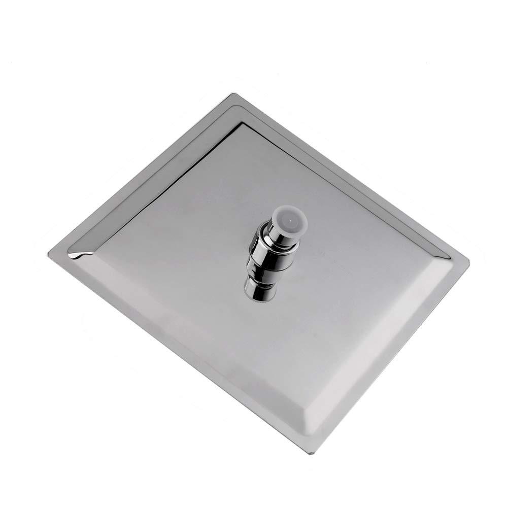 Yosoo 8 Pulgadas Solid Ducha Cabeza de Acero Inoxidable Lluvia Ultra Thin Jefe Ducha de Lluvia Square Cabezal del estilo Lluvia de Chrome Cabeza de Ducha