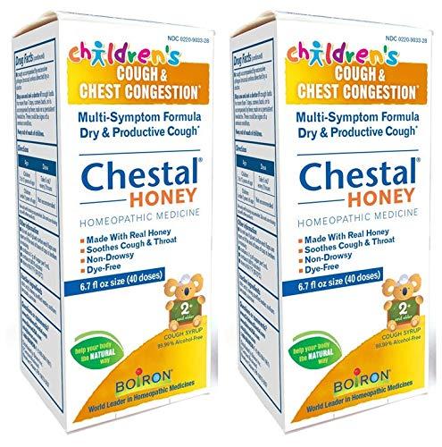 Children's Chestal Honey Homeopathic Medicine, Ages 2+ (Pack of 2) with Histaminum Hydrochloricum, Sabadilla, Solidago Virgaurea and Ambrosia Artemisiaefolia, 6.7 oz. Each -