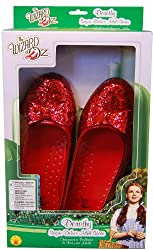 Wizard Of Oz, Deluxe Adult Dorothy Sequin Shoes, Red, Medium