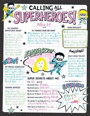 superhero poster sets