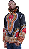 Shenbolen Mens Long Sleeve African Print Dashiki Short Jacket Outwear Coat (X-Large, A)