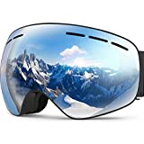 Ski Goggles PRO,OBOSOE Interchangeable Lens 100% UV400 Protection Snow Goggles for Men & Women-Anti-Fog Wide Spherical Safety Goggles