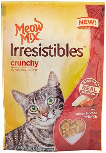 Meow Mix Irresistibles Cat Treats - Crunchy - Salmon & Ocean Whitefish - 6 oz