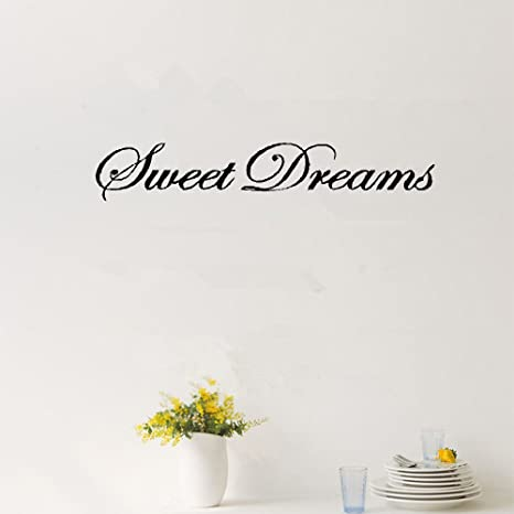 Wall Decorations Sweet Dreams Quote Stickers Quote Art Words Sayings Words LP