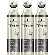 Schwarzkopf Styliste Ultime Amino-Q Mousse, 8 Ounce (Pack of 3)
