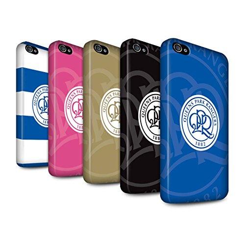 Officiel Queens Park Rangers FC Coque / Clipser Matte Etui pour Apple iPhone 4/4S / Pack 11pcs Design / QPR Crête Club Football Collection