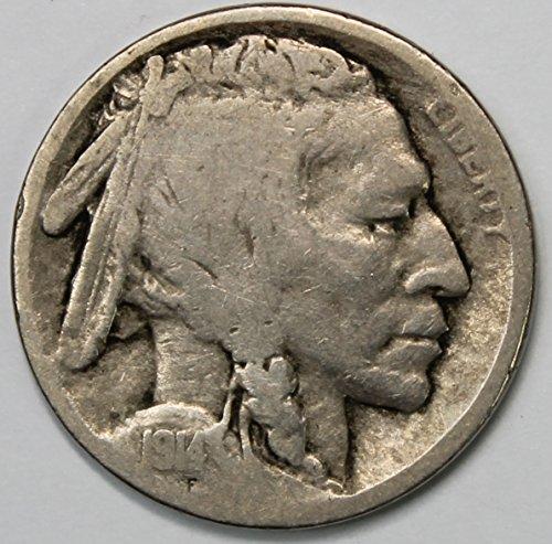 1914 S Buffalo Nickel 5c Good or Better