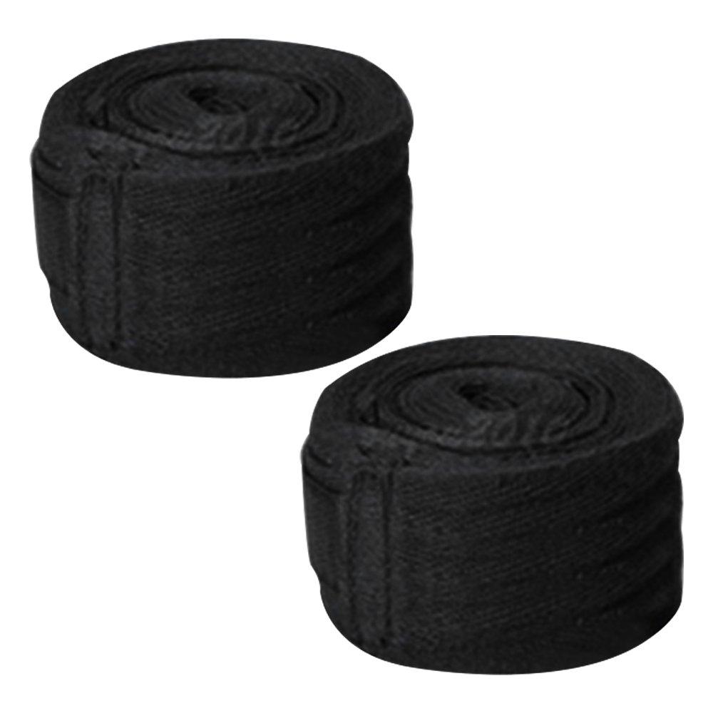 Little dedos 2,5m Unisex de boxeo mano wraps vendaje banda ejercicio guantes de entrenamiento de boxeo, color negro, tamaño 98.43 x 1.97 Little finger