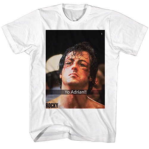 1970s Camiseta Stallone Adrian Rocky 2bhip Film blanca hombre Champion Boxing Sport H8Wxq14