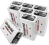 Polaroid 9 Volt Extreme Alkaline Batteries (8 Pack)