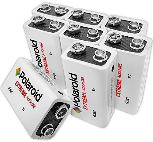 Polaroid Extreme 9 Volt Alkaline Batteries (8-Pack) (Disposable Cameras Bulk)
