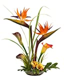 Bird of Paradise & Calla Lily Silk Flower Centerpiece