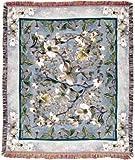 "Flowering Dogwood Tapestry Throw Blanket 50"" x 60"""