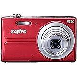 "Sanyo 14MP Digital Camera w/ 5x Optical Zoom, 3"" LCD Display - RED Color"