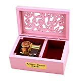 YouTang Hollow Wooden 18-Note Wind-up Musical Box,Mini Music Box,Tune:You are My Sunshine