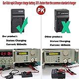 CCYC LI-90B, LI-92B, LI-50B USB Fast Charger for Olympus LI90B LI92B LI50B Camera Battery, Olympus Tough TG-3, TG-4, SH-1, SH-2, SH-60, SZ-16, SZ-17, TG-850, TG-860, SP-100EE, TG-Tracker more Cameras