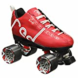 Labeda Voodoo U3 Quad Roller Speed Skates Customized Red Skates with Black Cayman Wheels 8