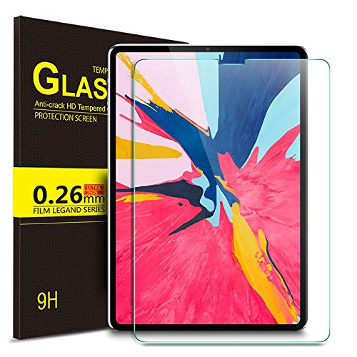 IVSO ipad pro 12.9 2018 Screen Protector, 9H Hardness HD Clear Tempered Glass Screen Protector for Apple ipad pro 12.9 2018 Tablet (2pcs) ()