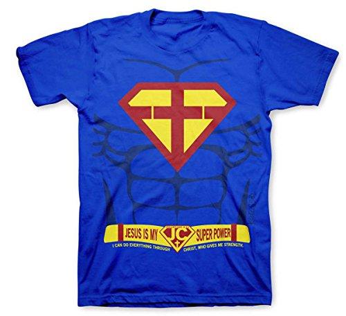 Super Power, Kidz Tee, 4T, Royal - Christian Fashion Gifts -