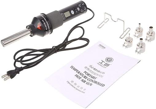 Hot Air Gun 220V 450W 450℃ LCD Soldering Station ICs SMD Desolder For BGA Nozzle