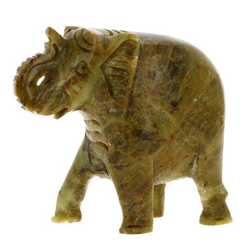 ShalinCraft Stoneware Indian Elephant Soap Stone Home Dec...