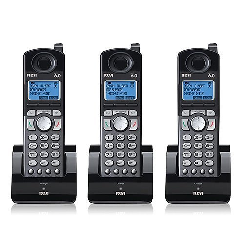 Rca Digital Telephone - RCA 25055RE1 Dect 6.0 Cordless Expansion Handset 2-Line Landline Telephone - 3 Pack
