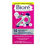 Biore Deep Cleansing Nose and Face Pore Strips, 14-Count