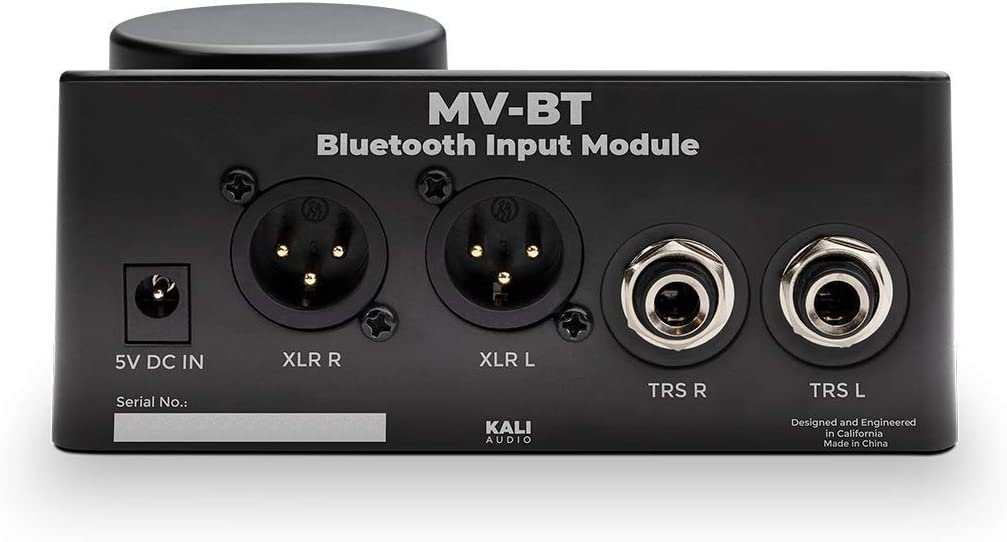 Kali Audio MV-BT Professional Monitor Controller /& Ricevitore Bluetooth nero adattatore Bluetooth, XLR // 6,3 mm Jack Stereo Output, LED Meter Trasmettitore audio senza fili