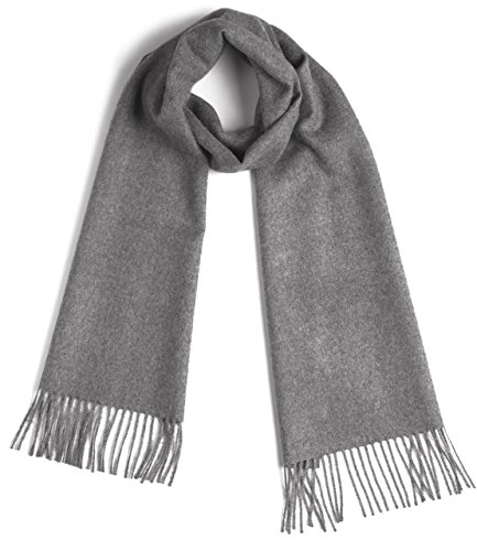 Luxurious 100% Premium Baby Alpaca Scarf - Ultimate Softness - for Men and Women (Gray) ()