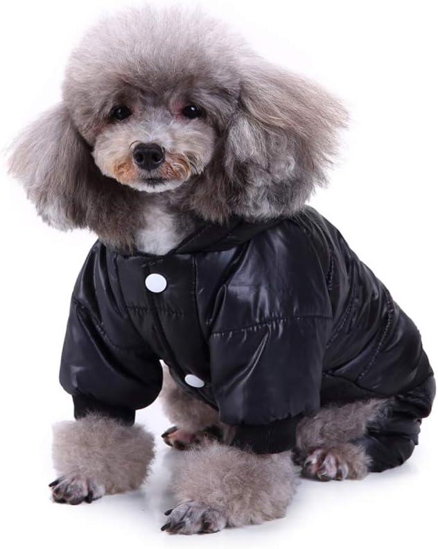 Smoro Winter Haustier Hund Mantel Verdickung Hund Daunen Jacke Kleidung Kost/üm 4 Beine