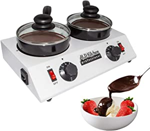 ALDKitchen Chocolate Melting Pot   Professional Chocolate Tempering Machine with Manual Control   Heated Chocolate   110V   (Double (2.4 kg))
