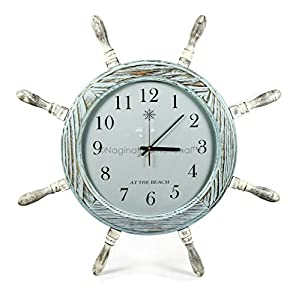 51vQg0MpH9L._SS300_ Best Ship Wheel Clocks