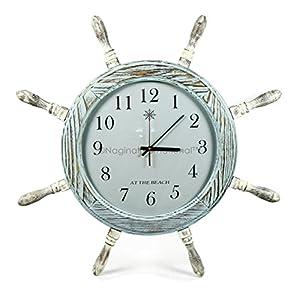 51vQg0MpH9L._SS300_ Coastal Wall Clocks & Beach Wall Clocks